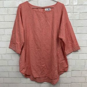🍍OLD NAVY RED& WHITE TUNIC TOP SIZE XL